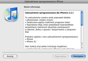 iPhone firmware 2.2.1