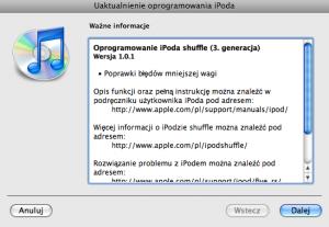 iPod shuffle 3G - firmware 1.0.1