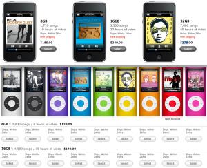 Nowe ceny iPodów