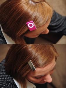 iPod jako spinka do włosów