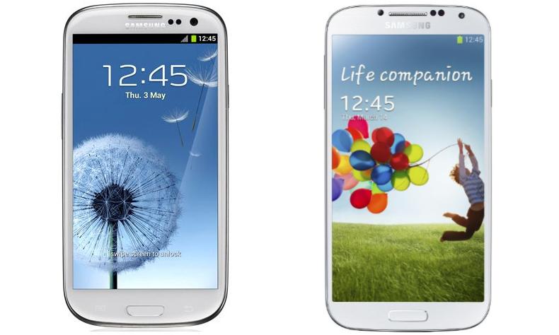 Samsung Galaxy s3 vs Samsung Galaxy s4