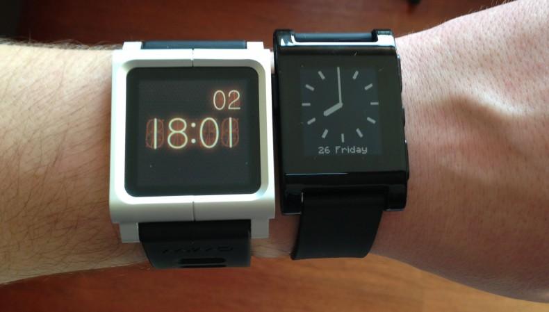Pebble vs iPod nano 6G