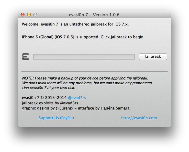 Trwały Jailbreak iOS 7 iPhone/iPad/iPod touch