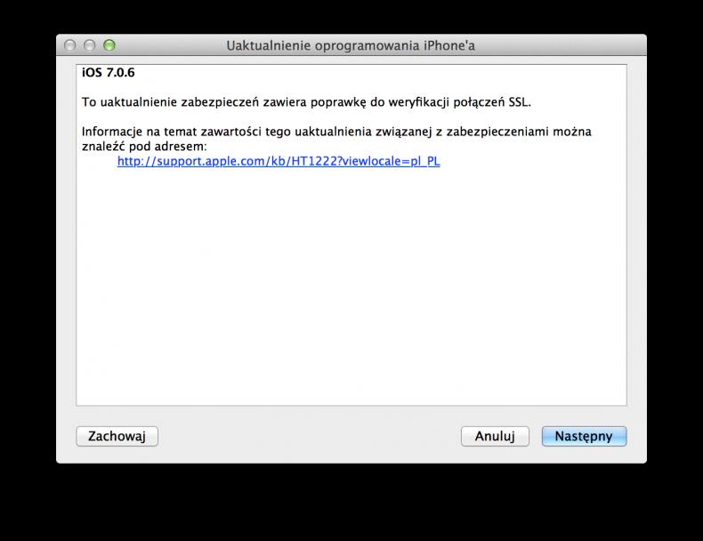 iOS 7.0.6 i 6.1.6