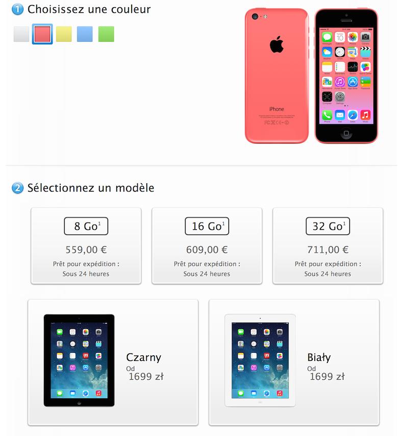 nowe ipady, iphone 5c 8gb